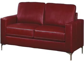 Ceptor Red Leather Gel Loveseat