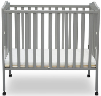 Portababy Grey Crib With Mattress