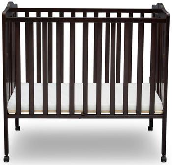 Portababy Dark Brown Crib With Mattress