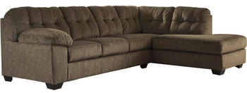 """ALVEN Brown 126"""" Wide Sectional"""