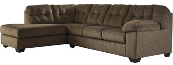 "ALVEN Brown 126"" Wide Sectional"