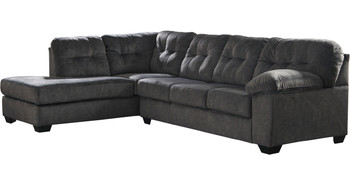"""ALVEN Gray 126"""" Wide Gray Sectional"""