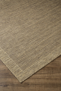 ALVEN 5' x 8' Beige/Brown Rug