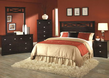 XERCES Merlot Bedroom Set