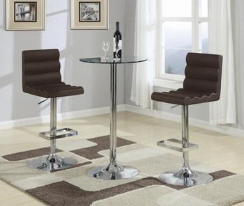 Chromo Glass Round Bar Table