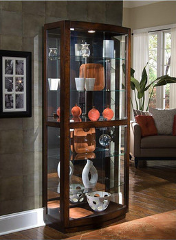 Gulf Dark Brown Lighted Curio
