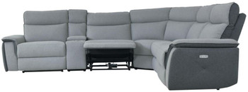 JAMIE Gray Powered Reclining Sectional