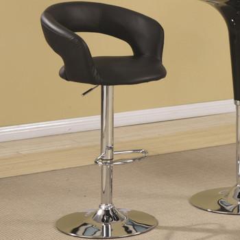 MEACO Black Adjustable Height Barstool