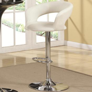 MEACO White Adjustable Height Barstool