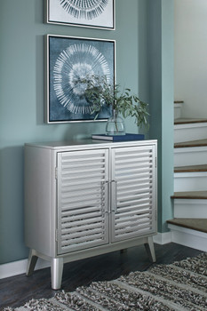 Cydney Silver Accent Cabinet