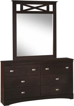 Xerces Merlot Dresser & Mirror