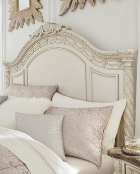 Alexandria Marble Panel Bed