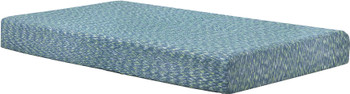Kidpedic Blue Memory Foam Mattress with Pillow