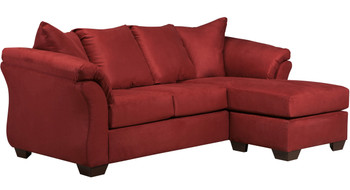 EDELINE Spice Red Sofa Chaise & Loveseat