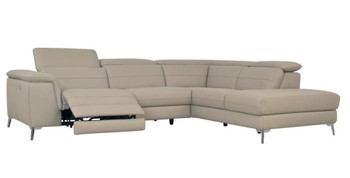 ZAHARA Taupe Reclining Powered Sectional