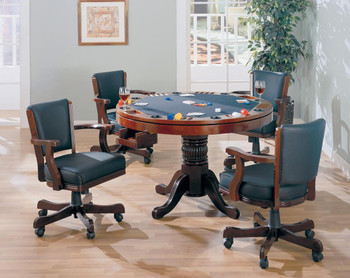 Coolidge Cherry 3-in-1 Game Table 5pc. Set