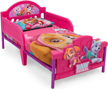 PAW Patrol - Skye & Everest - 3D Toddler Bed