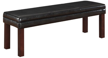 Arly Black Leatherette Dining Bench