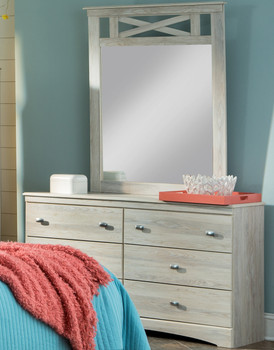 Xerces Cream Dresser & Mirror