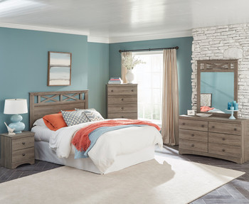 Xerces Aged Brown Bedroom Set