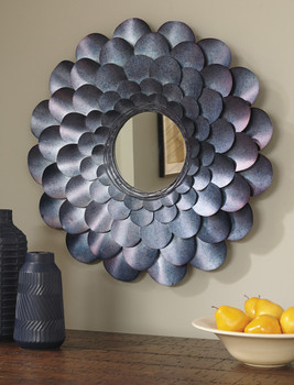 Flower Blue Accent Mirror