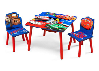 Cars Mator Table & Chair Set with Storage