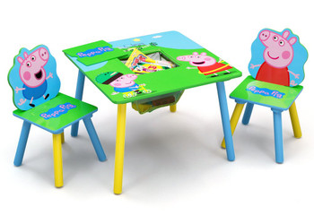 Peppa Pig Table & Chair Set with Storage