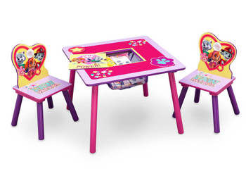 PAW Patrol, Skye & Everest Table & Chair Set with Storage