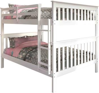 Derik White Full Bunk Bed