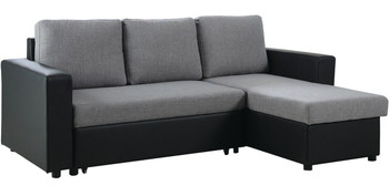 LOWELL Black & Gray Sectional