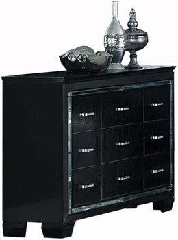 Annie Black Dresser & Lighted LED Mirror