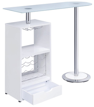 Baxter White Frosted Glass Top Bar Unit