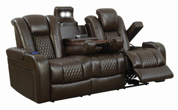 Doyle Powered Reclining Sofa & Loveseat with USB Port