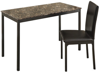 FAUX 48'' Wide Marble Desk With Desk Chair