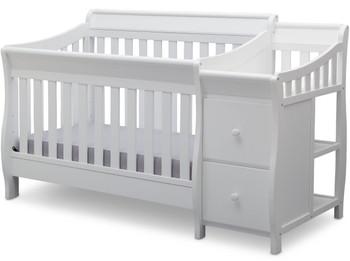 Reece White Crib N Changer