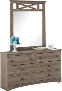Xerces Aged Brown Dresser & Mirror