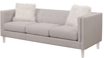 Cydney Light Grey Sofa & Loveseat
