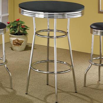"Bel Air 30"" Wide Black Bar Table"
