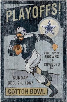 "Dallas Cowboys 26"" Height Playoffs Wall Art"