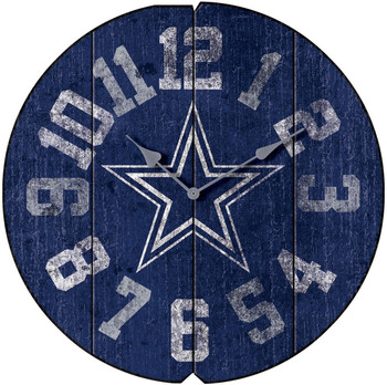 "Dallas Cowboys 16"" Wide Wall Clock"
