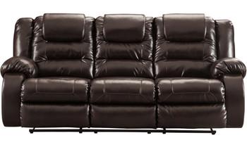 "HOLTEN Brown 87"" Wide Reclining Sofa"