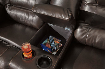 """HOLTEN Brown 134"""" Wide Reclining Sectional"""