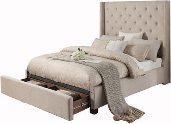 Samara Beige Storage Bed