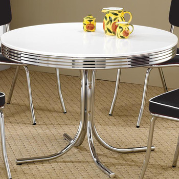 Bel Air Black 5-PC Round Dining Set