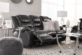 HOLTEN Black Reclining Livingroom
