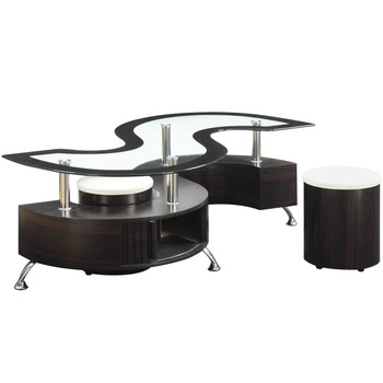 Skyro Coffee Table with Stools