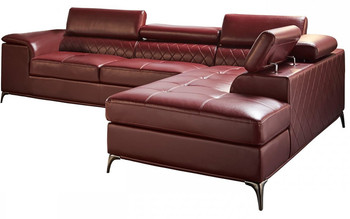 """GRANBY Red 118"""" Wide Sectional"""