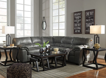 Bronco Slate Medium Sectional