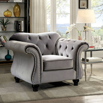 Juliette Gray Arm Chair