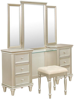 Ariella Vanity Dresser with Mirror